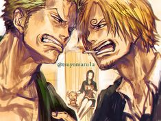 One Piece, Straw Hat Pirates, Sanji, Zoro, Robin, Chopper