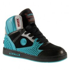 TheBeatbox: Airwalk Skate Shoes Welcomes Back (The Running Man) Old School Styles Old School Skateboards, Vintage Skateboards, Blue Sneakers, High Top Sneakers, Airwalk, Skate Surf, Skateboard Decks, Skate Decks, Everyday Shoes