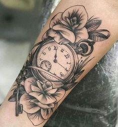 (notitle) - Tattoos&Piercings - - My list of the most creative tattoo models Girl Arm Tattoos, Girls With Sleeve Tattoos, Girly Tattoos, Body Art Tattoos, New Tattoos, Tattoo Art, Forarm Tattoos For Women, Tattoo Clock, Realism Tattoo