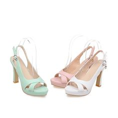 Women's Shoes Chunky Heels/Platform/Open Toe Sandals Party & Evening/Dress Green/Pink/White 4998469 2017 – $32.99