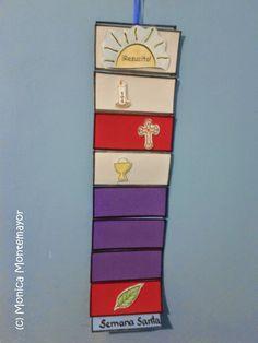 Familia Católica: Caminito de Semana Santa con imprimible de Mónica Montemayor