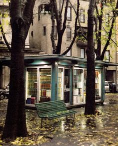 coffeeshop bookshop in the park? And this will be the setting for my proposal...