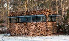 Dutch camoflaged cabin/recording studio.