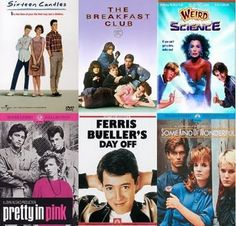 John Hughes movies - Pretty much flawless :) ...So I love John Hughes movies along with tons of other 80's films. And while I did see them when I was younger, I didn't really start to appreciate them until I was older...around jr. high or so. This goes pretty much for any teenaged, angsty, or more mature themed films in the 80's.