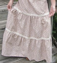 I made this 3 tiered skirt inspired by the Sewing Video from Homestead Blessings and I love how it turned out! I have a weakness for prairie fashion. I think because it's so feminine and I love all the sweet cotton prints. Plus, I adore the way a long skirt swishes around me when I …