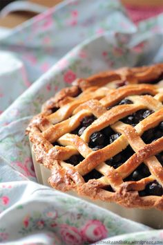 Deep Filled Blueberry Pie