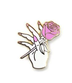 Nail Salon Lapel Pin (White/Gold) from Strange Ways. Saved to Things I want as gifts. Metal Pins, Cute Pins, Pin And Patches, Pin Badges, Lapel Pins, Pin Collection, Brooch Pin, Piercings, Nails