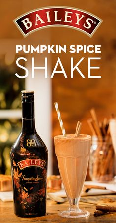 Get in the spirit of fall with the Pumpkin Spice Shake, a treat that's sure to satisfy your pumpkin spice cravings! To make, blend 4 oz. Baileys Pumpkin Spice Irish Cream, 2 cups Chocolate Ice Cream, 2 oz. Whole Milk, 1/4 cup Brown Sugar, 1/4 cup Pumpkin Puree, and 1/4 tsp. of Pumpkin Spice Blend. Enjoy the most indulgent flavors the season has to offer!