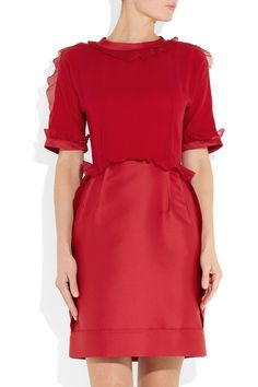 Lanvin | Duchess crepe and silk-satin dress | NET-A-PORTER.COM