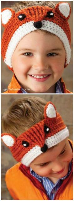 ea67020805b 50 Free Crochet Fox Patterns - Crochet Fox Hat