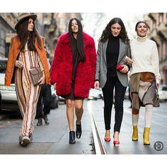 Women's Street Style at the Menswear Fall Fashion Week 2015 Looks Street Style, Autumn Street Style, Street Chic, Street Style Women, Nyfw Street, Fall Fashion Week, Mens Fashion Week, Winter Fashion, Gilda Ambrosio