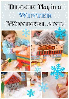Block Play in a Winter Wonderland : )