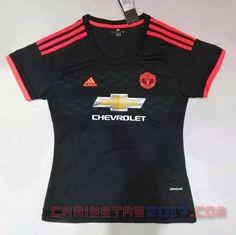 Camiseta mujer Manchester United 2015 2016 tercera