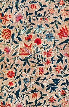 Chintz. Block printed cotton. India, 18th century.