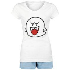 "Super Mario Pijama, Mujer ""Boo"" blanco-azul • Compra online • EMP"