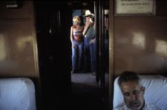 Alex Webb. Mexico 1978 Sierra Madre. Passengers on the Chihuahua Al Pacifico Train
