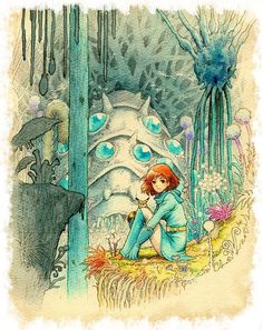 i love studio ghibli films, they make me happy. and since i am new fan, i still have a lot of catching up to do so please feel free to submit everything & anything ghibli! Animation Film, Illustration, Studio Ghibli Art, Drawings, Animation, Nausicaa, Art, Anime, Anime Movies
