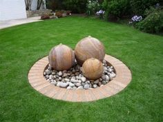 This simple water feature is a great focal point for the garden. Using all of our stone sphere sizes these rainbow stone balls come in 300,400 and 500mm and are available drilled or undrilled as garden features. In this picture our Scottish natural pebbles were used along with our water feature reservoirs sold in our store