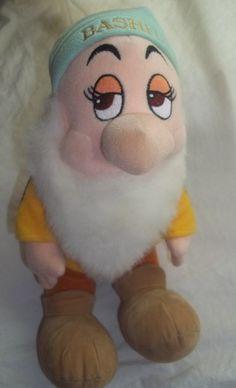 "Disney Snow White Seven Dwarfs Bashful Stuffed Animal Plush 13"" Tall TOY | eBay"