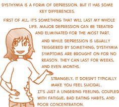 Dysthymia, depression, quote