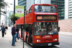 Chicago scene bus - Royalty Free Images