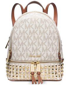 Michael Michael Kors Rhea Zip Small Studded Backpack #Carteras #michaelkors #michaelkorsecuador #michaelkorscarteras #carteras #ecuador