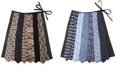 Necktie Skirt is a playful twist to otherwise formal piece of wear