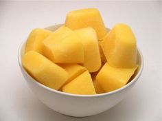 Mango cubes ...................................................................... mango cubes with cream ... <><><><> yes !!