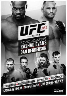 Os 10 melhores pôsteres do UFC (UFC 161 - Evans vs Henderson)