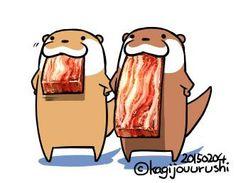分厚いこんがりベーコン食べたい。