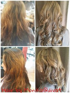 This client wanted to get rid of the orangey tone of her hair so we heavily highlighted it and added lots of lowlights https://www.facebook.com/divatsalon