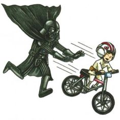 Darth Vader and Son - Bike Ride Star Trek Humor, Star Wars Meme, Star Wars Episódio Iv, Star Wars Cartoon, Star Wars Comics, Star Wars Art, Luke Skywalker, Lorde, Darth Vader And Son
