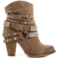 Fall Boots Collection Not Rated Women's Swanky - Cream Cream Boots, Beige Boots, Tall Leather Boots, Studded Boots, Tall Boots, Studded Leather, Leather Buckle, Leather Shoes, Brown Leather