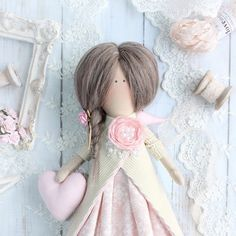 Sweet Angel Tilda style doll overcoat Handmade toy Textile interior doll 30cm | Dolls & Bears, Dolls, Art Dolls-OOAK | eBay!