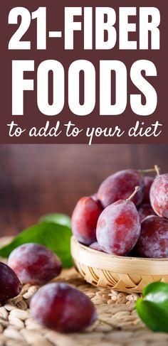23 High Fiber Foods You Should Eat Daily for weight loss Fiber Rich Foods, High Fiber Foods, Easy Weight Loss, Lose Weight, Foods To Eat, Diet, Vegetables, Fruit, Fiber Foods