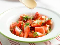 Salade van aardbei, watermeloen en munt (Libelle Lekker!)