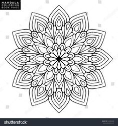 Mandala coloring pictures outline mandala for coloring book decorative round ornament anti stress therapy pattern weave . Mandala Art, Mandala Design, Mandalas Painting, Mandalas Drawing, Mandala Pattern, Dot Painting, Flower Coloring Pages, Mandala Coloring Pages, Coloring Book Pages