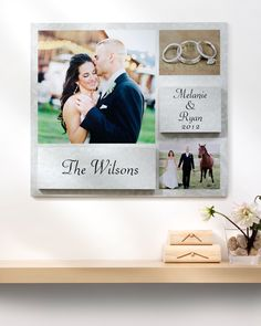Mounted wall art is a great way to capture wedding day memories | Shutterfly.com