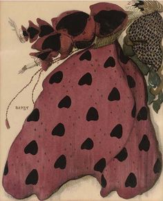 Costume design for a lady in red, Leon Bakst. Russian (1866 - 1924)