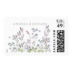 A Wildflower Wedding Postage Stamp