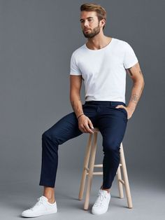 Formal Men Outfit, Casual Wear For Men, Summer Outfits Men, Casual Outfits, Men Summer Style, Summer Men, Casual Shirts, Look Man, Minimal Outfit