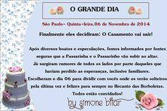 <3 Casamento do Mês: Passarinha e passarinho subindo ao altar!  Encomendinha partindo para Campinas, onde será a lua de mel...hi,hi,hi. Na Lojinha tem também: http://recanto.loja2.com.br/ E no Blog mais detalhes: http://recantodasborboletas-simoninha.blogspot.com.br/