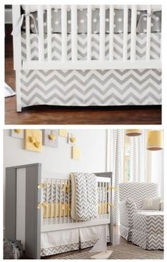 This up, down, up, down pattern adds instant architectural and depth elements. You can create a visual stimulation with this feature. White and grey baby nursery with chevron stripes decor is so cute.