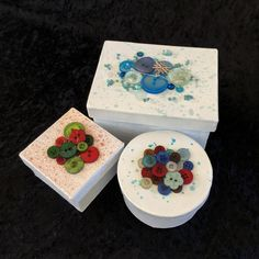 Christmas Gift Boxes with 28 Lilac Lane embellishments