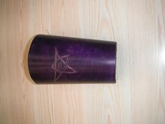 Tooled vambrace, purple with eldar sign. £15