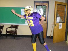 """""""Tackle the Test""""...Theme to get students get excited about state test. Have adults wear football jerseys"""