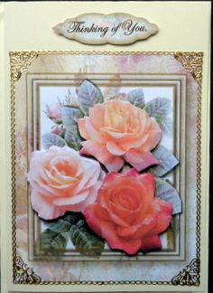 A great card to send that special person for there birthday thinking of you roses on craftsuprint designed by terri hawley made by mary murphy publicscrutiny Image collections