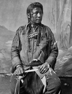 BLACKFEET MAN , circa 1885
