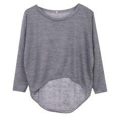Women Loose Knit Drop Back Sweaters