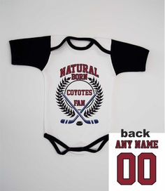 Coyotes Summer Baby Bodysuit Newborn One Piece Custom Infant Romper Fan  Personalized Jersey B 35087149c